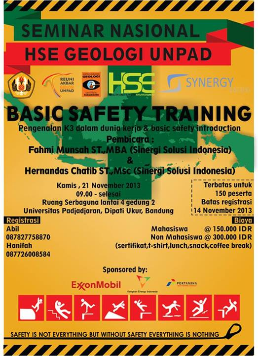 "FTG Unpad Selenggarakan Seminar Nasional ""Basic Safety Training"""