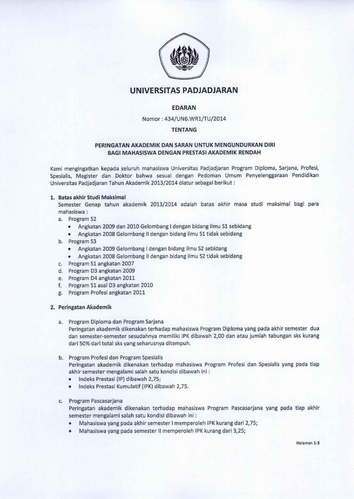 Herregistrasi Universitas Padjadjaran