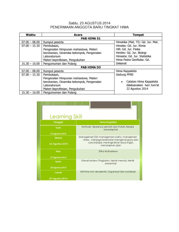 SUSUNAN ACARA PMB FMIPA 2014-3 copy