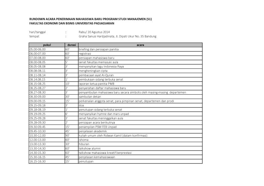rundown PMB manajemen S1- 1