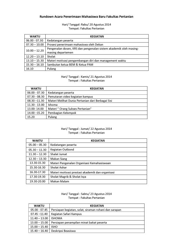 rundown acara PMB Fakultas Pertanian-1 copy