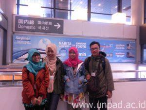 Para mahasiswa Unpad peserta Jenesys 2.0 saat berada di Jepang *