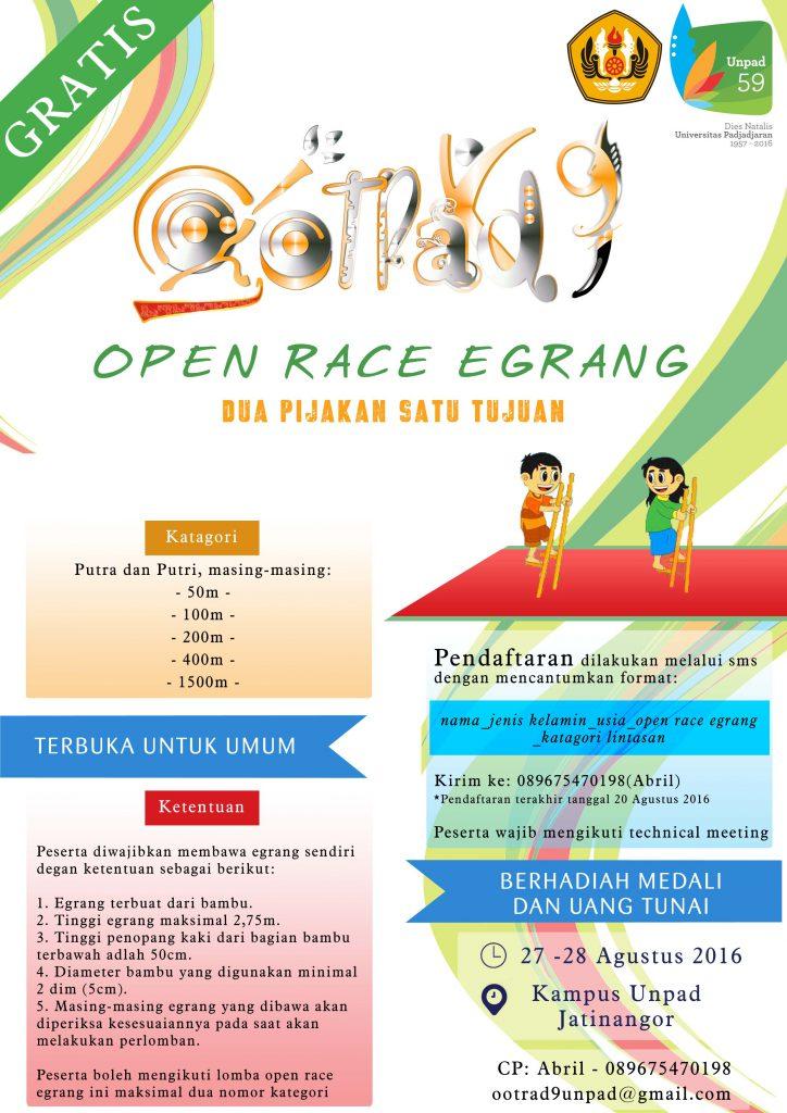 Poster Balap Egrang