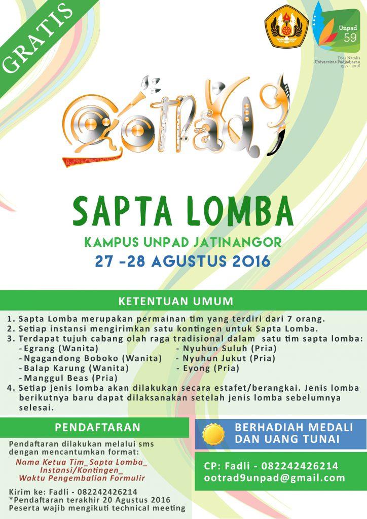 Poster Sapta Lomba
