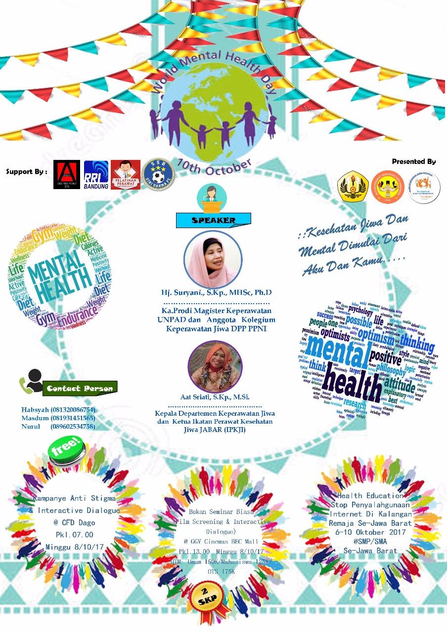 Peringatan Hari Kesehatan Jiwa Sedunia 2017 Bukan Seminar Biasa Universitas Padjadjaran